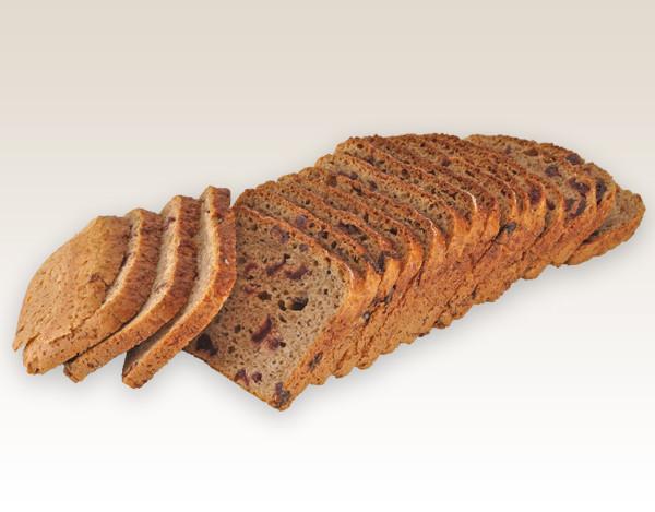 chleb razowy z zurawina krojony m